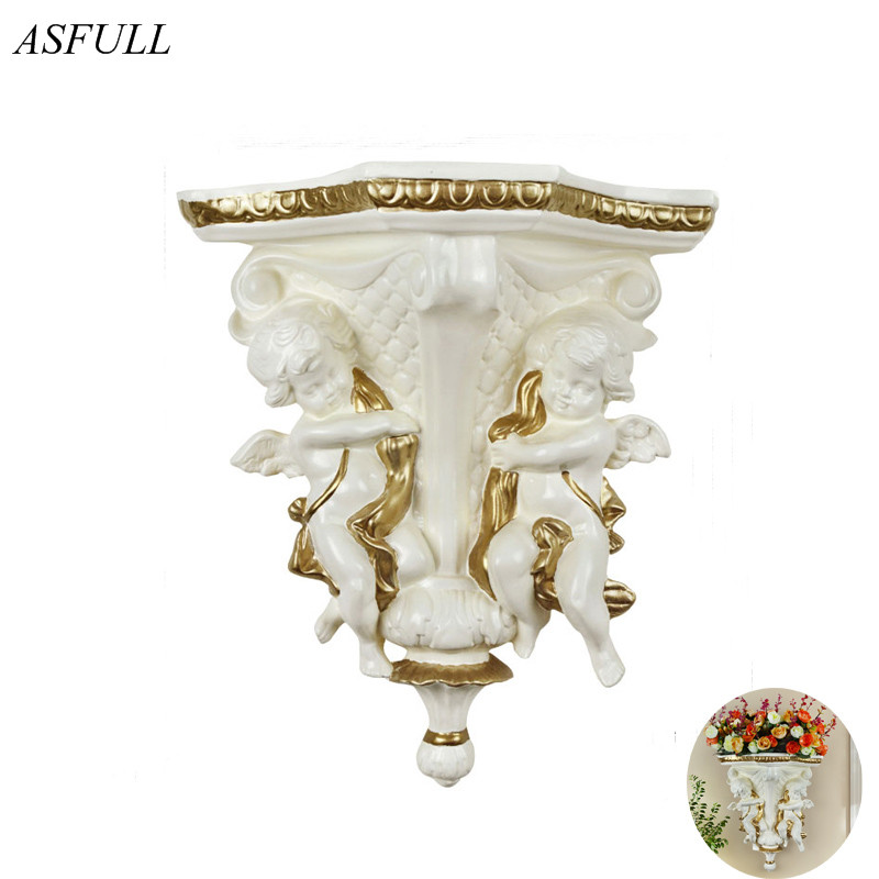 ASFULL Angel Wall Hanging Vase Creative Home Decoration Supplies European Ancient for Fresco Decoration Wall Angel