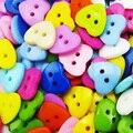 11 мм-25 мм Смешанные/одной кнопки сердца окрашенная пластик пальто сапоги Швейные декоративная одежда Аксессуар игрушка для детей кнопка P-223