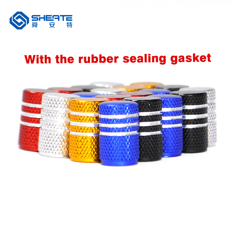 SHEATE 4PCS Car Tire Wheel Valve Cap 10 colors Gas leak proof rubber sealing gasket Tyre caps Vehicle Moto Bike car wheels