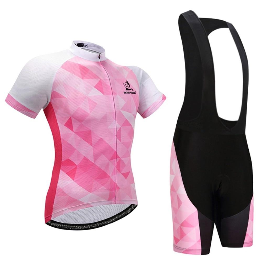 Womens Maillot Cycling Jersey Mtb & Bike Bib Shorts Set Equipe Cycling Clothes Set Team Cycling Clothing Bibs Set Cycling Kit