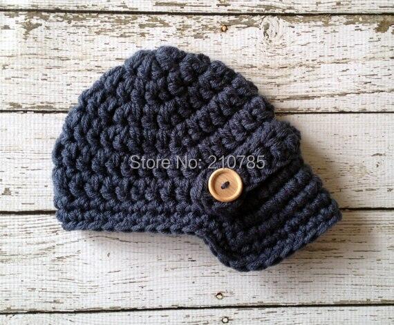 Envío Gratis baby newsboy rayas azules sombrero a juego Pantalones Bebé  conjuntos a4d596de04f