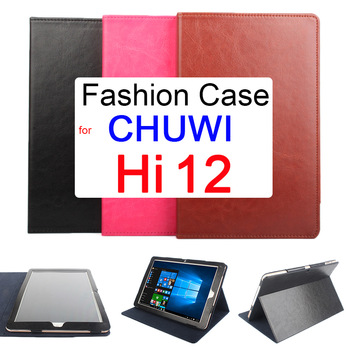 Flip Case For CHUWI Hi 12 Holder PU Leather Protective Cover Protect Full Body Folding Stand Design Chuwi Hi12 Tablet PC 12 inch