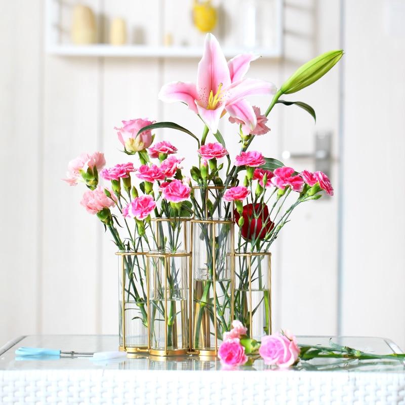 Tube Shape Flower Glass Vase Bottle For Flower Plant DIY Home Decoration Terrarium Hydroponic Green Plant Container Glass Vase