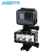 GoPro 3 Battery + 30m Diving Flash Light Underwater Led Fill Light For Gopro Hero 5 1 2 3+ 4 xiaomi yi Sport Camera Accessory