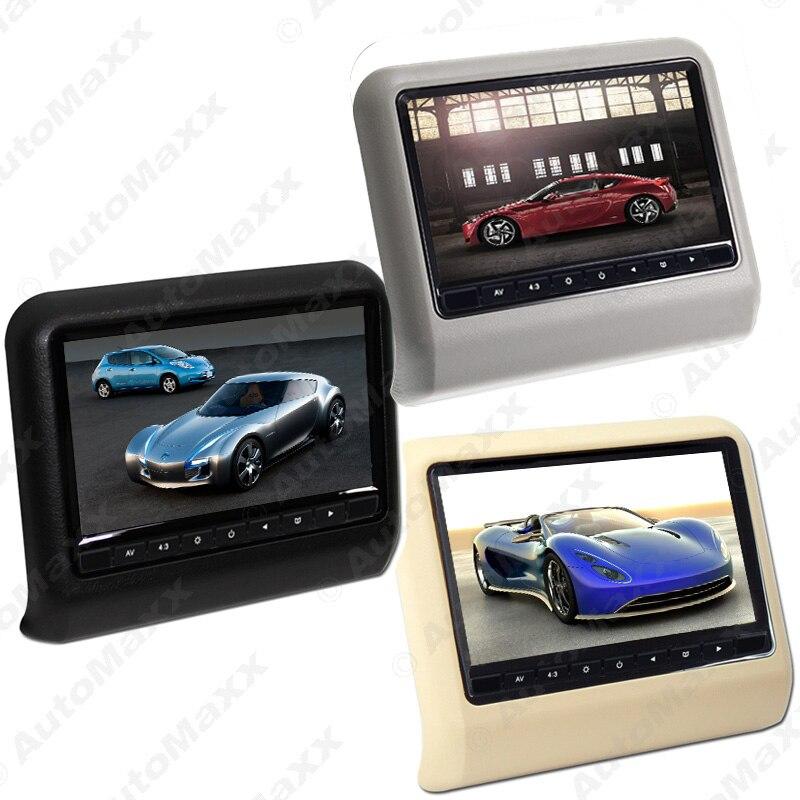 FEELDO 2Pcs 9 Inch Car Headrest Monitors Digital LCD AV 9 HD Monitor Remote Control 3