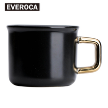 Gres Negro Gloden Taza de Café de Cerámica Taza Oficina Taza de Porcelana taza de Leche Azúcar limonada