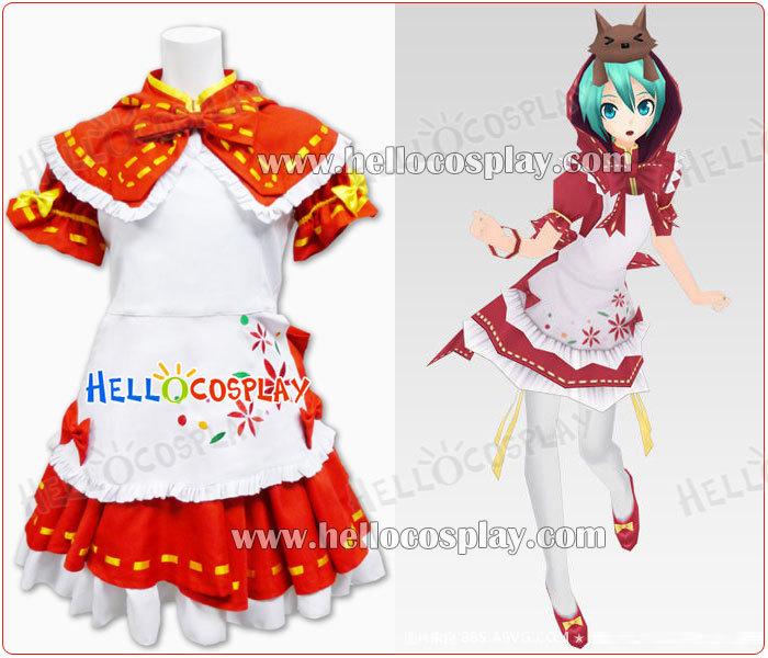 Vocaloid 2 Cosplay Project Diva Hatsune Miku Red Dress H008
