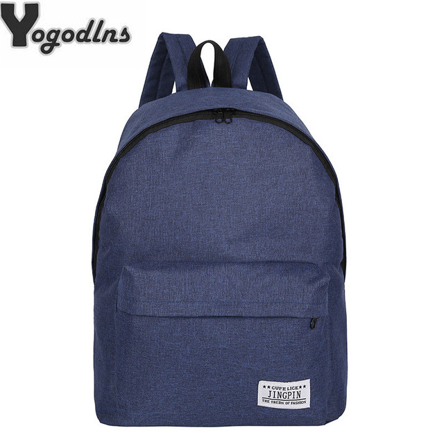 f1c506eca934 2019 new solid color Knapsack ladies canvas backpack Student college bag  girls Rucksak Casual Travel Bag