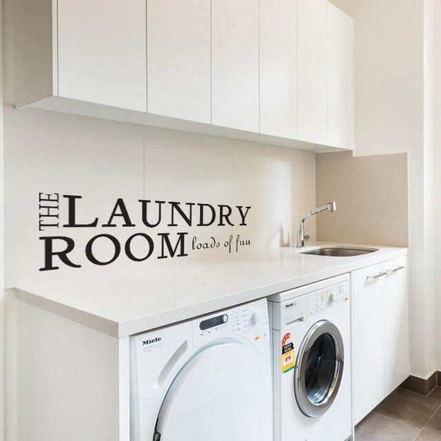 Waschküche waschküche wandtattoo viel spaß vinyl wand zitat aufkleber wäsche
