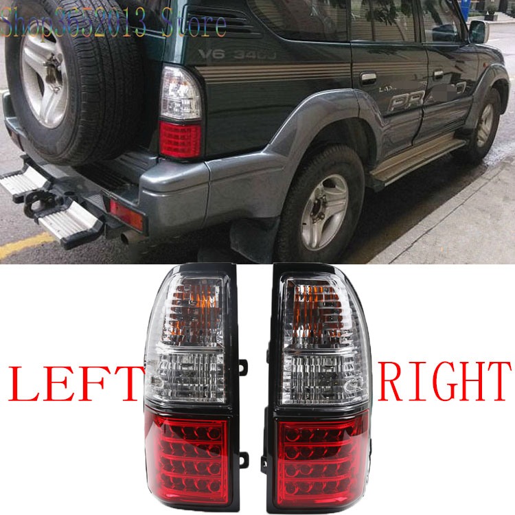 Car Accessories 2pcs For Toyota Land Cruiser Prado FJ90 LC90 3400 2700 1998 2002 LED Rear