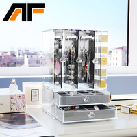 AF Moda Akrilik Takı Organizatör Temizle Plastik Takı Ekran Tepsi C233 Olmadan Çok Yönlü Takı Saklama Kutusu Ekran Kutusu