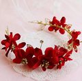 Star Fashion Rihanna upscale bridal hair jewelry wedding hair ornament headband flowers orient wedding