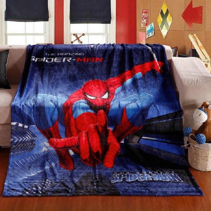Children Soft Blanket baby Girls Boys kids blankets Spiderman Fleece Blanket Winter Bedroom Thick Warm Sofa Bed Sheets