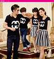 Family Summer Striped clothing T-shirts set Mom and daughter me Dad Son mother matching clothes Mommy Father outfits suits