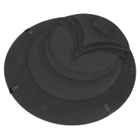 HOT 10 X Bass Snare Drums Mute Silencer Drumming Practice Pad Set Soundoff Quiet Black