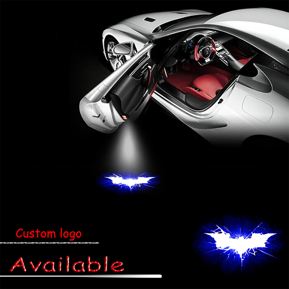 2x Logo Light Car Styling Door Laser Projector Shadow Lamp Logo Hero Batman Arkham Door Welcome Led Light 3W #1929 new arrival flower girls dresses high quality lace appliques beading short sleeve ball gowns custom holy first communion gowns