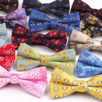 Uomini Bow Tie Abiti Classici Bowtie Per Gli Uomini Donne di Età Floreale Papillon Per Le Imprese di Cerimonia Nuziale Della Farfalla Cravatte Jacquard Papillon