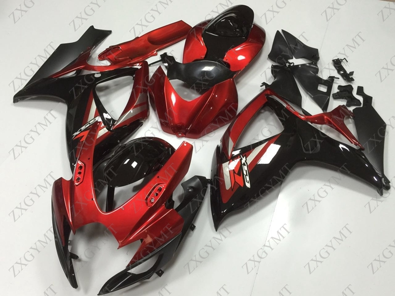 Full Body Kits GSX-R600 2006 - 2007 K6 Red Black 2 Fairings GSX-R750 2006 Fairings for Suzuki GSXR600 2006Full Body Kits GSX-R600 2006 - 2007 K6 Red Black 2 Fairings GSX-R750 2006 Fairings for Suzuki GSXR600 2006
