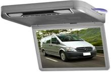 Free shipping 13.3inch car roof flip down dvd monitor with game usb sd fm ir HDMI speakers 1920*1080 resolution