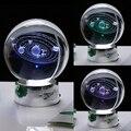 6 CM 8 CM Laser Gravierte Solar Kristall Ball 3D Miniatur Planeten Modell Kugel Glaskugel Ornament Home Decor Geschenk-in Deko-Kugeln aus Heim und Garten bei