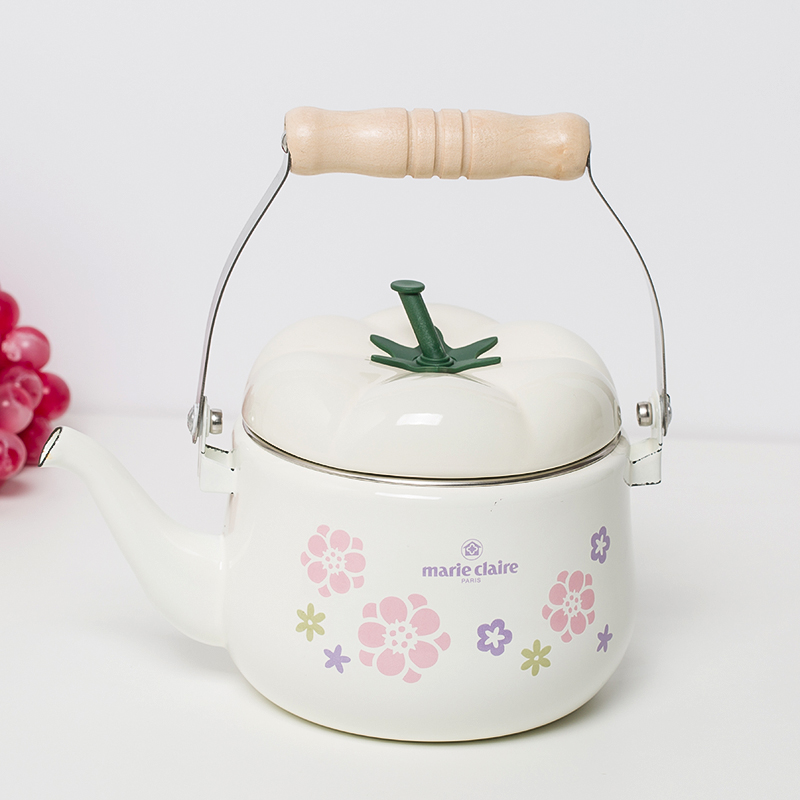 2L Japanese Pumpkin Pot Enamel Water Kettle Pot Cool Water Enamel Pot Induction Cooker Pot Chinese Traditional Medicine