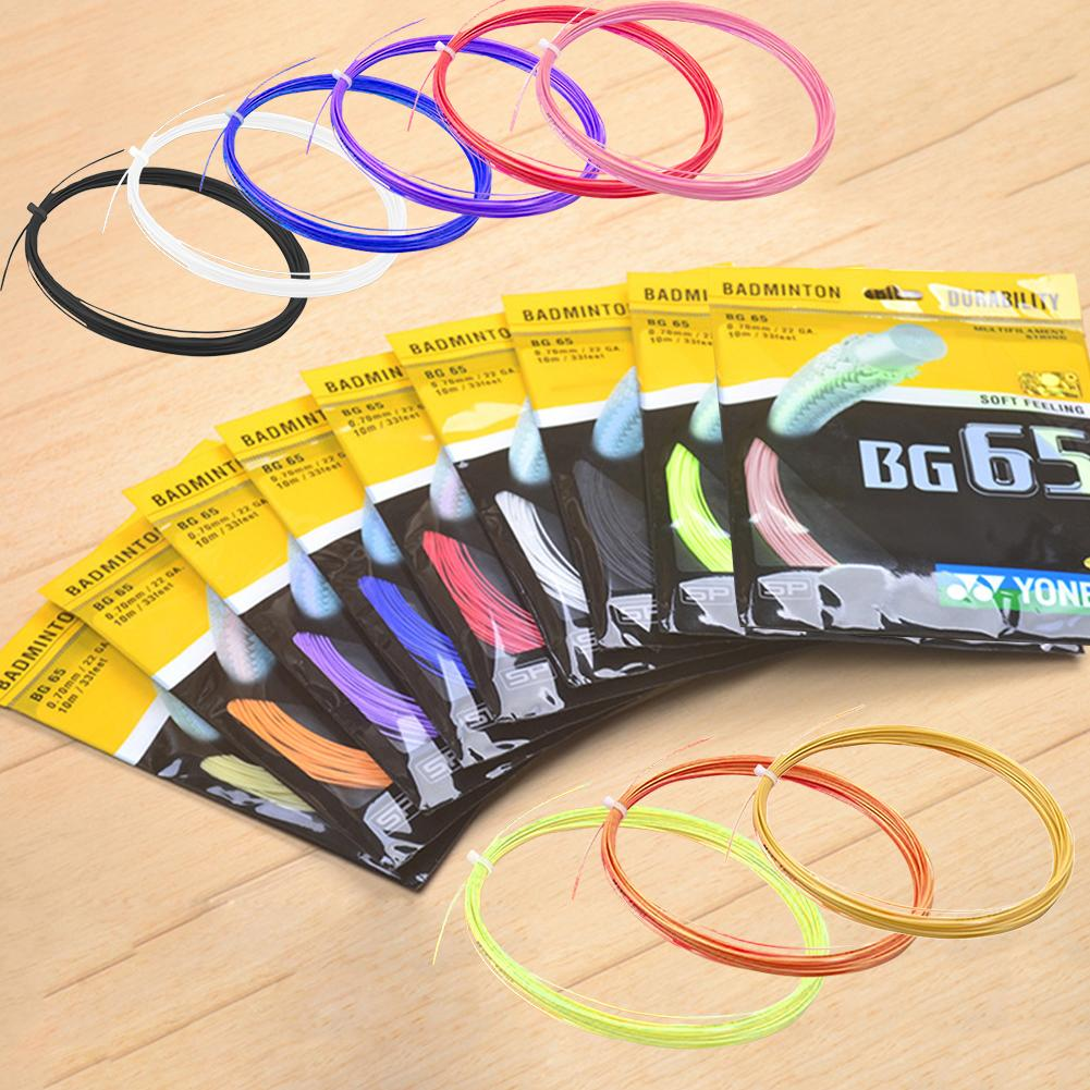 Badminton Racket String Line BG 65 95 High Elastic Training Competition Professional Racquet Line Net For National Team Durable