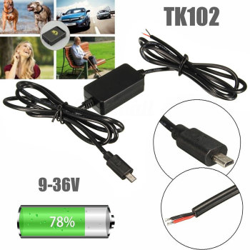 TK102 Nano GPS Tracker Hard Wire Vehicle Charger Kit Car Battery Adapter USB GSM image