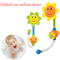 Bathing summer Sunflowers cartoon shower infant bath water toys baby bath beach toys