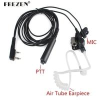 עבור uv Tube Air אקוסטית אוזניות אפרכסת אוזניות PTT עבור Kenwood רדיו TK-3107 UV-5R UV-5RA UV-5RE פלוס UV-B5 UV-B6 GT-3 BF-888S (1)