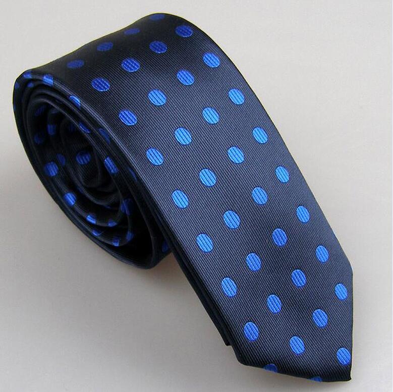 Lammulin Для Мужчин's Галстуки для костюма в точка жаккарда тканый шейный платок из микрофибры узкий галстук 6 см свадебные туфли, 10 цветов на выбор, брендовый мужской - Цвет: blue w Royal blue