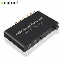 Kebidu 5.1CH HDMI Audio extracteur décoder Coaxial à RCA AC3/DST à 5.1 amplificateur convertisseur analogique prise en charge 4K 3D pour PS4 DVD