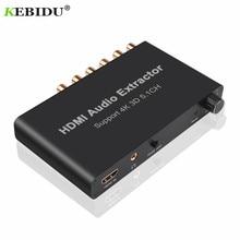Kebidu 5.1CH decodifica estrattore Audio HDMI coassiale a RCA AC3/DST a 5.1 amplificatore convertitore analogico supporto 4K 3D per DVD PS4