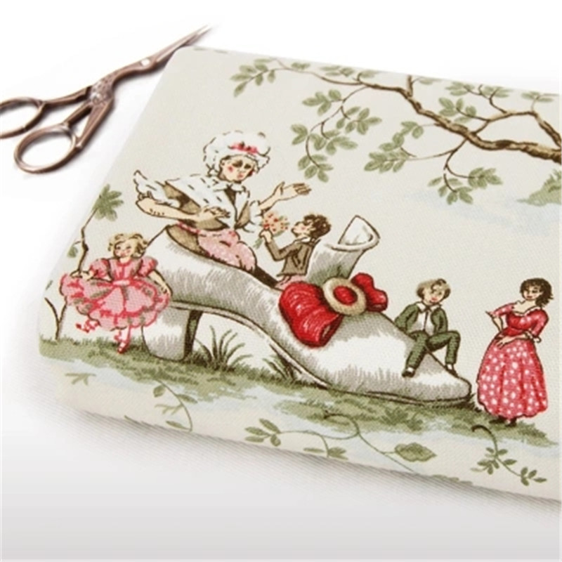 2016 새로운 45x150cm 빈티지 유럽의 동화 캔버스 원단 바느질 섬유 퀼트 베개 커튼 지갑 용 DIY