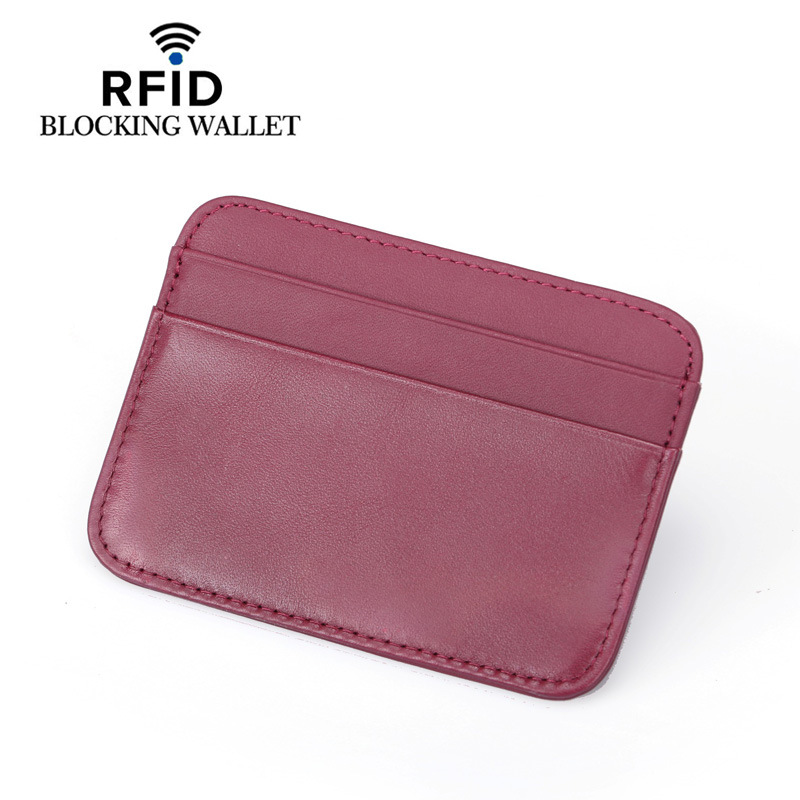 Minimalist Credit Card Holder Cow Leather Card Wallet Convenient ID Pocket Bank Credit Card Case Thin Purse