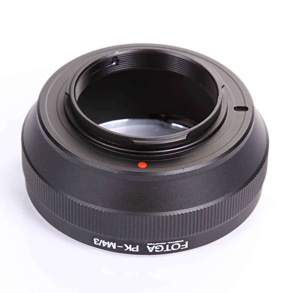 เลนส์อะแดปเตอร์เลนส์ FOTGA สำหรับ Pentax PK เลนส์ Panasonic Olympus M4/3 G7 GH4 OM-D EM10 EM5