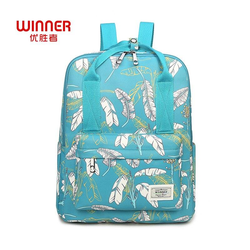 WINNER Casual Women Backpack Shoulder School Bags Bookbag For Teenagers Girls Schoolbag Laptop Backbag Travel Hand Bag Mochila