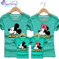 2017 Minnie T-shirt Women Mother Daughter Outfits Cartoon Mouse Madre E Hija Ropa 10 Colors Vetement Mere Et Fille Assortie