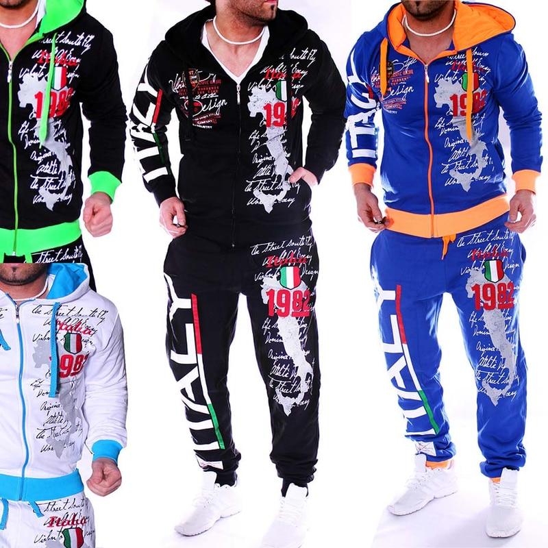 Zogaa Casual Suit Men Winter Sportwear Sets Tracksuit Men Brand Clothing Streetwear Tops Tees+Shorts Fashion Camisetas Hombre