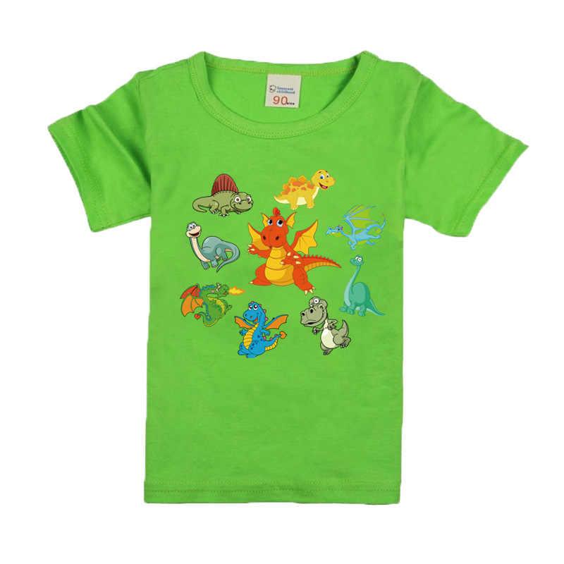 2018 niño buen dinosaurio camiseta niños verano dibujos animados impreso ropa chica algodón camiseta bebé 10 colores niños camisetas