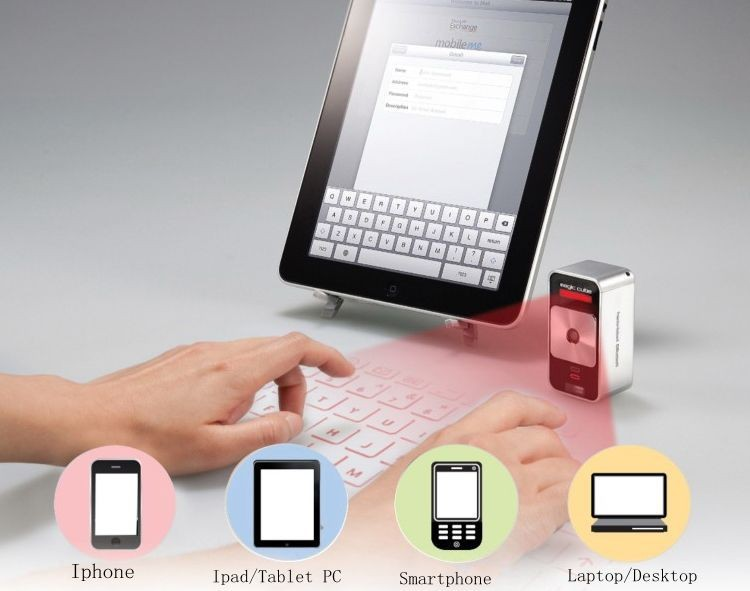 4 In 1 Virtual Projector Laser Keyboard And 5200mah Power Bank Mouse With Bluetooth Speaker For Iphone Mobile Tablet Keyboards From Computer Office