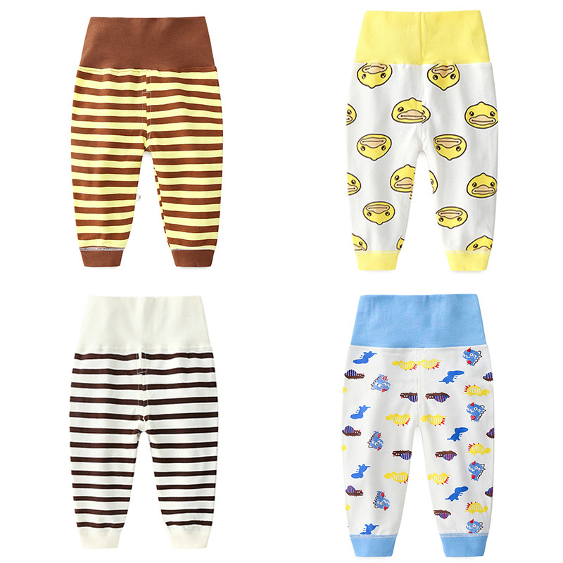 Clothing Belly-Pants Autumn Cotton Baby-Girl High-Waist Children's Boy Open-End 0-4-Years-Old
