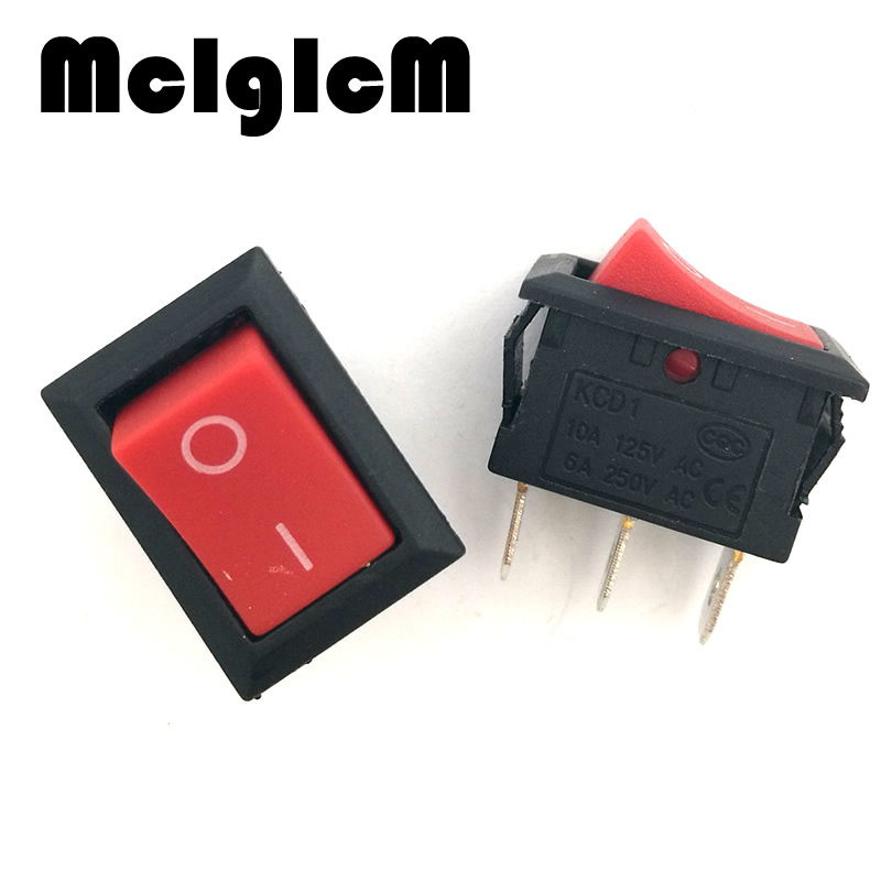 H011-02 20pcs lot Mini Boat Rocker Switch 3 Pin RED AC 250V 6A   AC 125V  10A on-off I O SPDT Snap Switches 15 21mm Free shipping 3f8fc30969