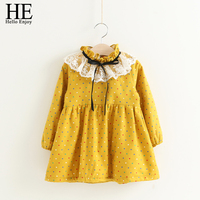 2017 Girl Princess Dress Autumn Winter Children S Clothing Lace Colorful Dot Bow Ribbon Long Sleeve