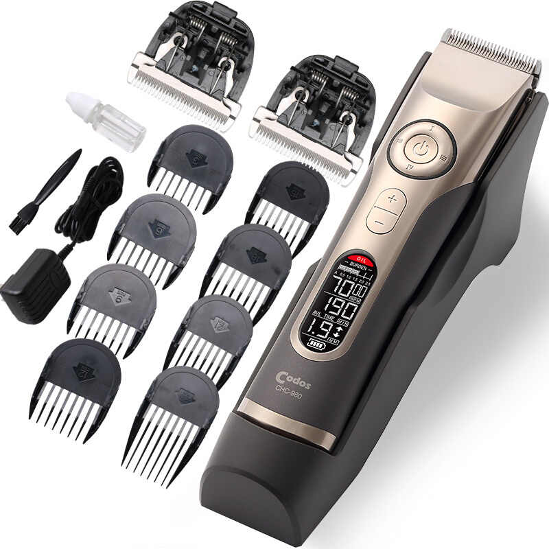3-25mm Cutting Codos 980 Professional Electric Hair Clipper for Barber LCD Display Rechargeable Hair Trimmers Cutting Machine