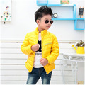 Unisex Boy Girl Coats 2016 New 2016 Fashion Candy Solid Lightweight  Outwear Down & Parkas Children's Boys Warm Clothes