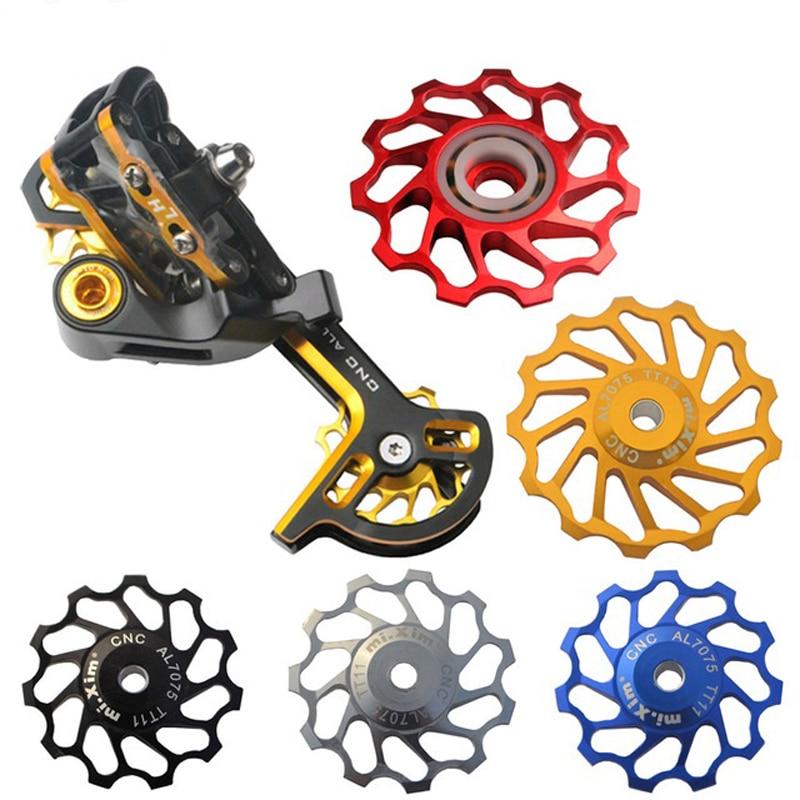 1 Pair Bike Bicycle Jockey Wheel Rear Derailleur Guide Pulley Aluminium 11T
