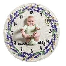 Circular DIY Infant Kids Photography Props Newborns Photography Props Baby Blanket Cute Cartoon Newborn Swaddle Bedding Wrap