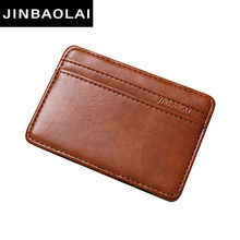 Card Holder Vintage Style High Quality PU Leather Magic Wallets Mini Card Holder Magic Wallet Slim Cardholder Card Case Carteira(China)
