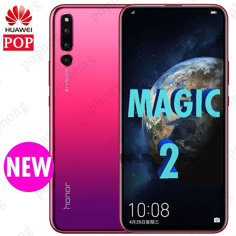 """Новый HuaWei Honor Magic 2 смартфон на весь экран 6,39 """"Kirin 980 Android 9,0 сотовый телефон FHD 1080X2340 NFC 4 камеры супер заряд"""