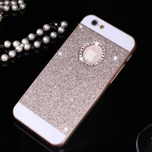 9eb147467354dc Hot Rhinestone Phone Case Bling Logo Window Luxury Cover for iPhone X 8 4  4s 5 5s 6 6s 7 8 Plus case Shinning back cover cases-in Fitted Cases from  ...